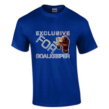 Soccer T-Shirt Crew Neck 100% Cotton Exclusive For Goalkeeper Color Royal - $19.79+