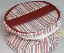 Longaberger Market Stripe Mom's Essentials Cosmetic Bag Makeup Accessory... - $9.79