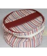 Longaberger Market Stripe Mom's Essentials Cosmetic Bag Makeup Accessory... - $9.79