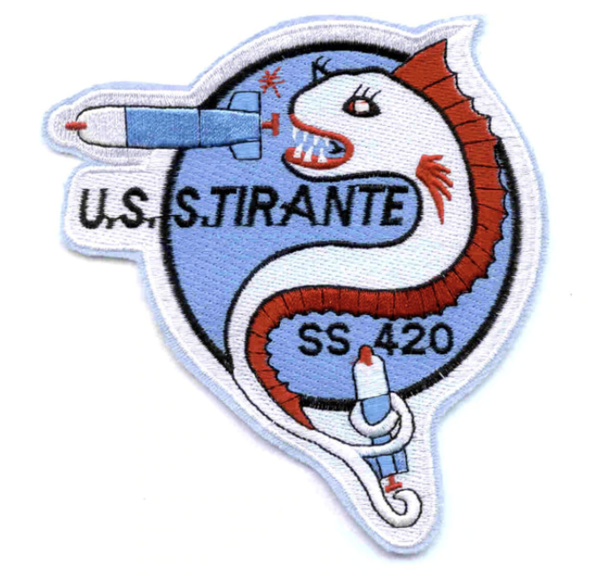 "Primary image for 5"" NAVY USS TIRANTE SS-420 EMBROIDERED PATCH"