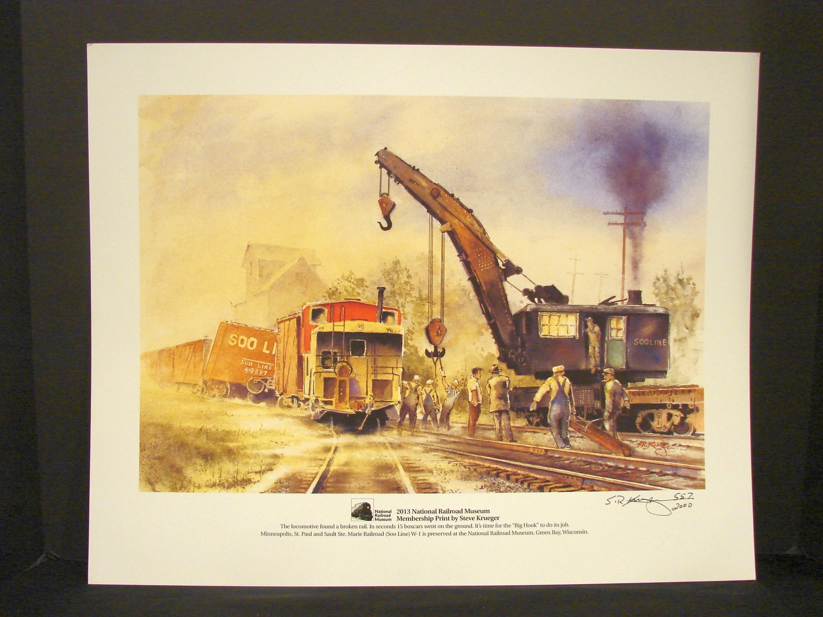 Primary image for National Railroad Museum Signed , Numbered Print (2013 ) by Steve Krueger