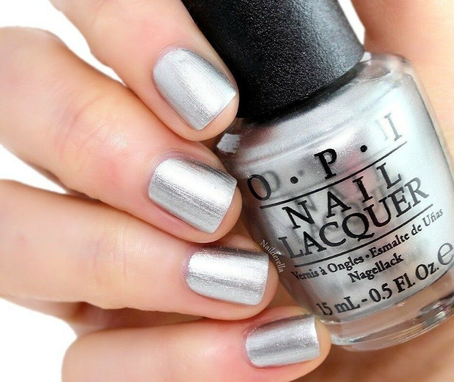 Primary image for OPI 50 Shades of Grey ~MY SILK TIE~ Silky Silver Shimmer Nail Polish Lacquer F74