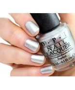 OPI 50 Shades of Grey ~MY SILK TIE~ Silky Silver Shimmer Nail Polish Lac... - $8.44