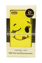 iCOUTURE Hardshell Case YELLOW SMILEY FACE For iPOD Touch 5th Gen ULTRA ... - $5.93