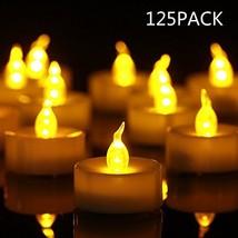 Eloer Tea Lights Flameless LED Tea Lights Candles 125 Pack, Flickering W... - $24.02
