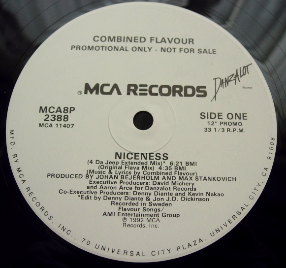 Combined Flavour - Niceness - PROMO - MCA Records MCA8P 2388