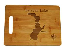 Eastern Lake Map Engraved Bamboo Cutting Board 9.75x13.75 inches Florida - $34.64