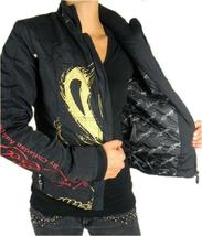 NEW ED HARDY CHRISTIAN AUDIGIER WOMEN'S PREMIUM JACKET BLACK PANTHER SIZE XS image 3