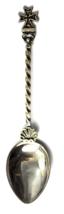 "800 Fine Silver CR Patty Celtic Cross Souvenir Shell Demitasse Spoon 3-3/4"" - $17.81"