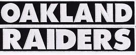 One Oakland & One Raider 2x12 Script Sew Iron On Patch Nfl Football Helmet - $25.99