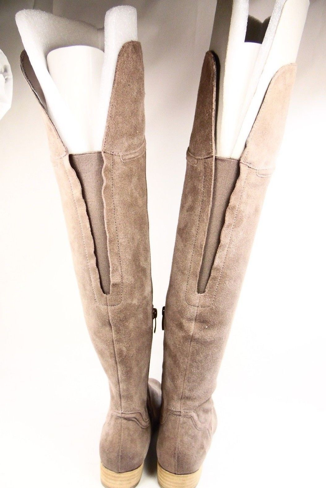 d341ec64792 ENZO ANGIOLINI MALACI Womens High Boots Suede Leather Taupe Size 6.5M