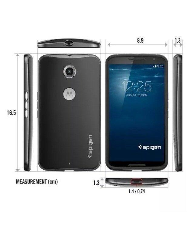 Authentic Spigen SGP11234 Google Motorola Nexus 6 Case Thin Fit Mint New