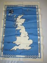 new VTG IRISH Tea Towel Linen Irish Royal National Mission Deep Sea Fish... - $40.00
