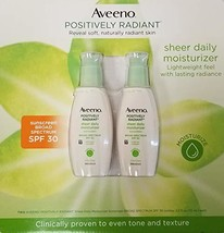 AVEENO Active Naturals Positively Radiant Daily Moisturizer SPF 30, 2.50... - $44.46