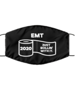 Funny EMT Black Face Mask, Just Rollin' With It, Unique Christmas Face  - £12.25 GBP