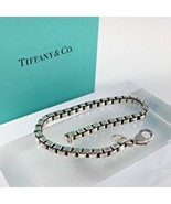 Tiffany Sterling Silver 925 Bracelet Venetian Box Chain Woman Jewelry Gift - $237.55