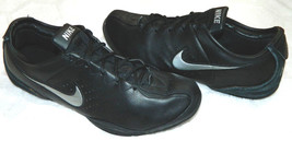 NIKE AIR SERIES Sz 11 SNEAKERS Shoes BLACK Silver LEATHER Basketball ATH... - $24.05