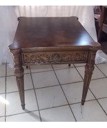 Henredon Walnut End Table / Side Table with Drawer - $499.00