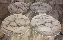 "Royal Norfolk Grey & White Marble Pattern 10.5"" Dinner Plates Set Of 4 B... - $39.08"