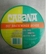 Cabana Backwash Hose 50' Fits all filter types Stainless Steel Clamp, 1.... - $10.63