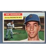 Vintage MLB 1956 TOPPS #237 JOSE VALDIVIELSO(GB) EX-MT - $20.48