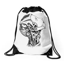 Robot Girl Machine Drawstring Bags - $31.00
