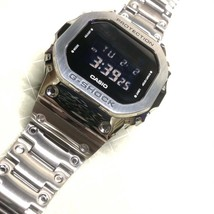 G-SHOCK 5600 CASIO Digital GM-5600-1jf Stainless Steel Full Metal Custom - $373.72