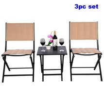 Garden Bistro Set Clearance Outdoor Small Folding Table Chairs Patio Fur... - $81.87
