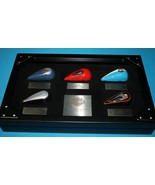 Harley Davidson  *2006 MINI GAS TANK ORNAMENT SET*  Display Case~Shadow Box - $45.99