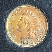 1903 Indian Head Penny GEM #0458 - $29.99