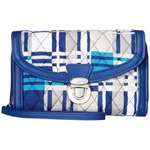 Vera Bradley Santiago Woven Plaid Quilted Ultimate Wallet Wristlet NWT - $27.23
