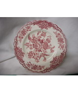 "Vintage Crown Ducal Pink Bristol Salad Plate 8"" - $22.23"