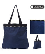 LeSportsac Travel System Simply Square Tote Monaco Blue T Self-Packable ... - $39.00