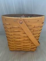 Longaberger 2001 Medium Measuring Basket With Plastic Protector - $35.52