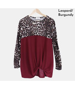Women's Burgundy Leopard Knot Small - $10.00