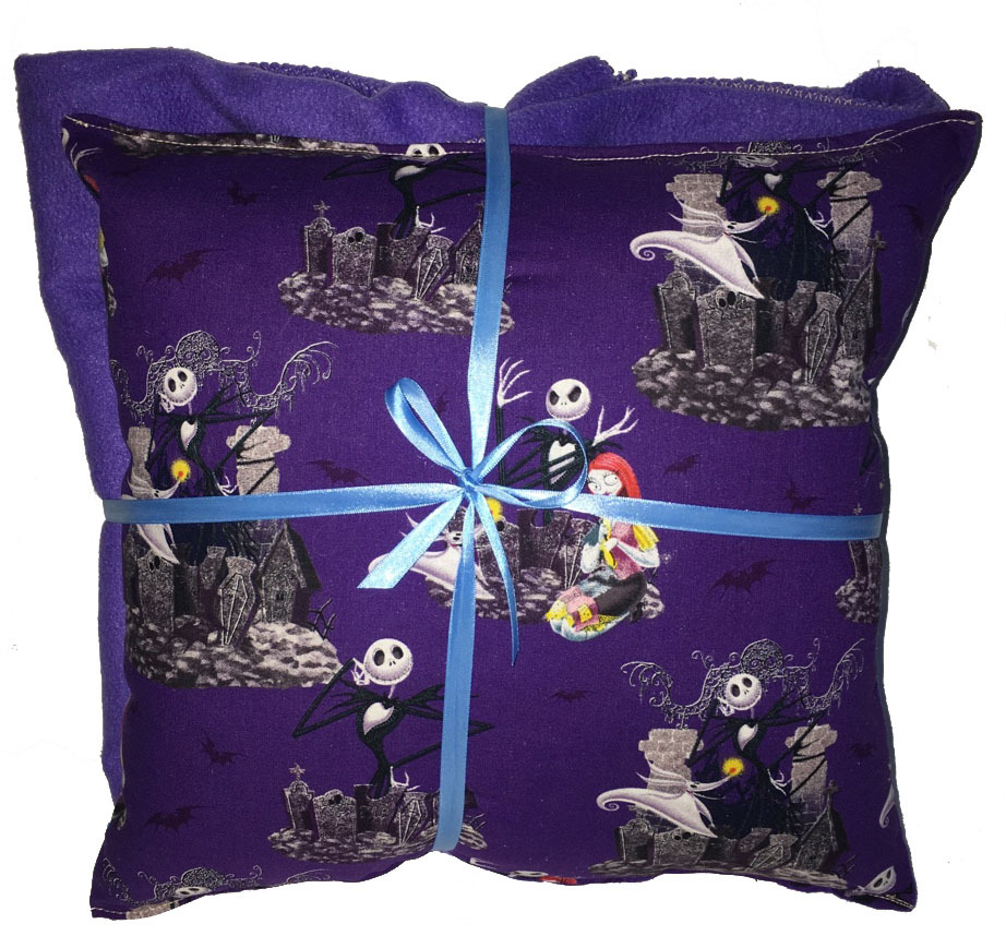 Nightmare Before Christmas Pillow And Blanket Jack & Sally Pillow & Blanket Set for sale  USA