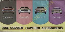 1965 Chevrolet Custom Feature Accessories Automobile Brochure Printed 1964 - $19.07
