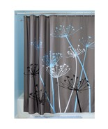 "InterDesign Bathroom Shower Curtain Thistle Gray/Blue Modern Decor 72"" 3... - $15.63"
