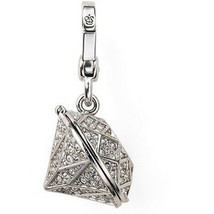 Juicy Couture Charm Pave Locket Silvertone NEW - $67.32