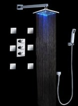 "Fontana Luxury Bathroom Shower Set with Luxury 8"" Water Power LED Shower Head (W - $633.55"