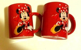 Disney Jerry Leigh Minnie Mouse Its All About Me Red 12 oz Coffee Mug Se... - $14.85