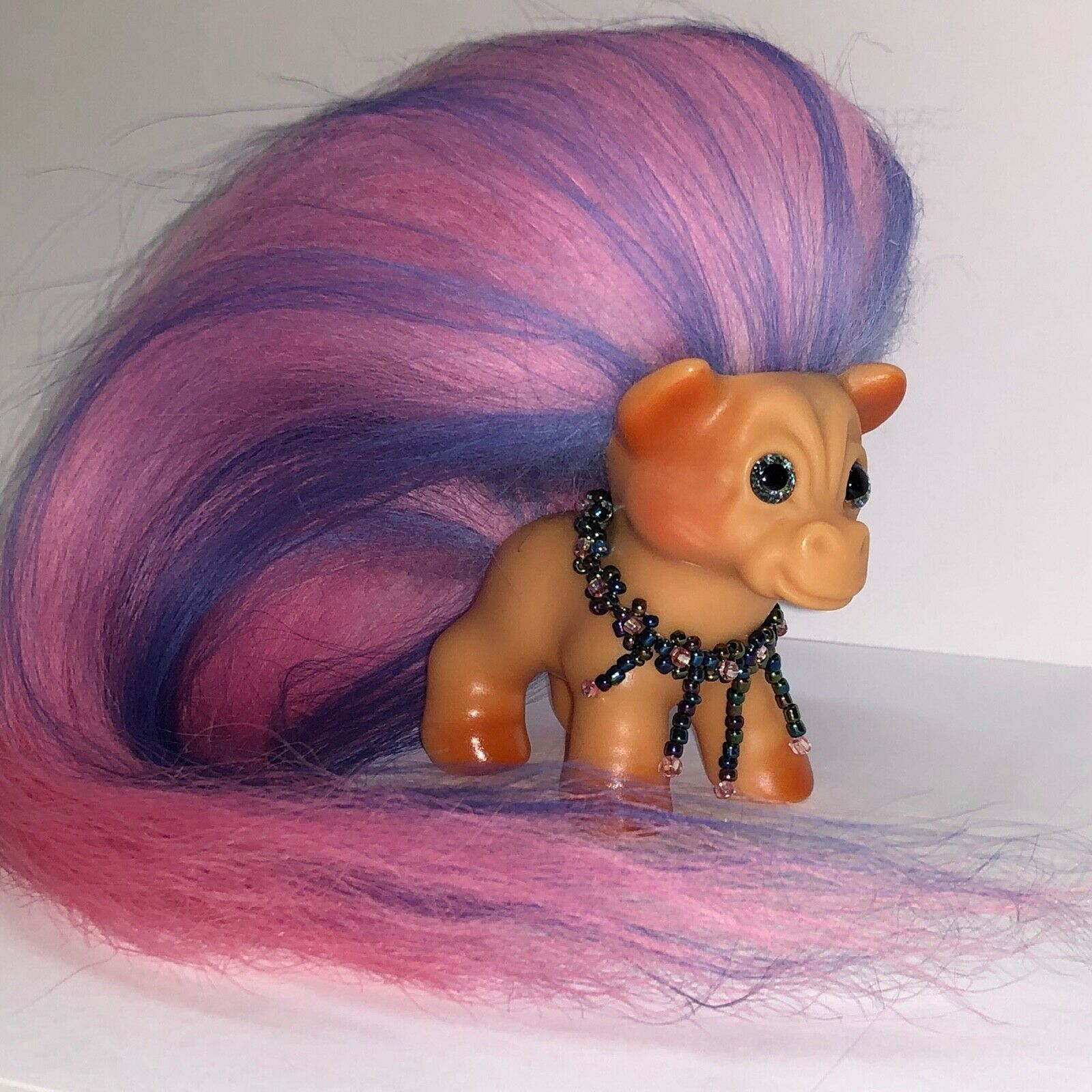 VINTAGE DAM HORSE TROLL ~ FRESH FROM THE TROLL SPA ~ NEW HAIR AND SPARKLE EYES! image 4