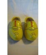 Decorative Dutch Wooden Clogs Holland Souvenir Childs Shoes Yellow EU si... - $37.13