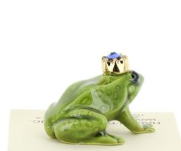 Birthstone Frog Prince September Simulated Sapphire Miniatures by Hagen-Renaker image 4