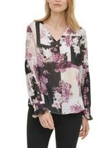 Calvin Klein Floral-Print Blouse - $50.00