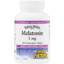 Natural Factors Stress-Relax Melatonin 1mg, 180 Chewable Tablets - $10.46