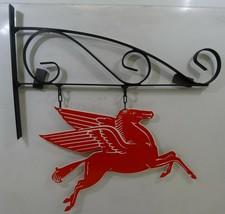 "Mobil Pegasus Plasma Cut Metal Sign on Hanger 15""  image 2"