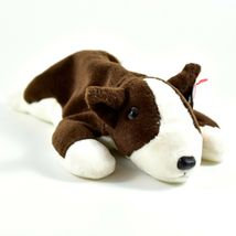 1997 TY Beanie Baby Original Bruno Brown White Dog Beanbag Plush Toy Doll image 4