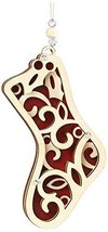 Laser Wood Ornament Flourish Hanging Stocking image 1