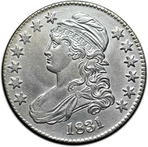 1831 Capped Bust Silver Half Dollar 50¢ Coin Lot# A 394